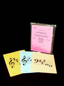 INTERVAL FLASH CARDS - D, A, B-flat, & E-flat